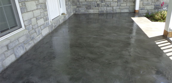 epoxy sealed concrete flooring