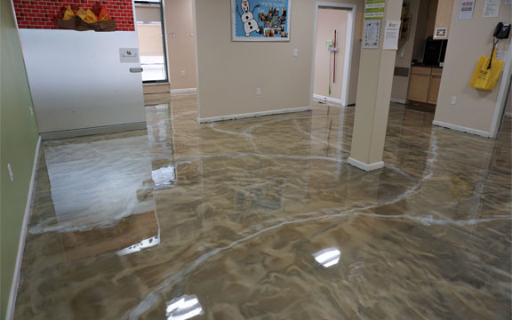 pure metallic epoxy floor